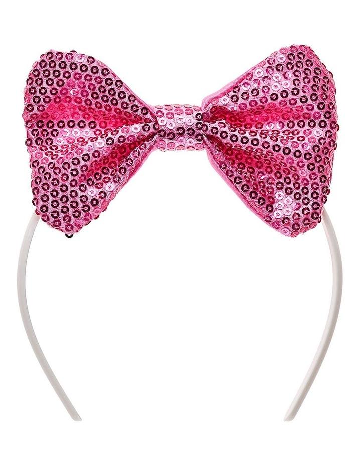 Pink Sequin Bow Headband image 1
