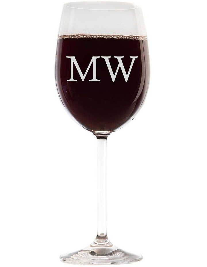 Engraved 360mL Wine Glass - Initials image 1