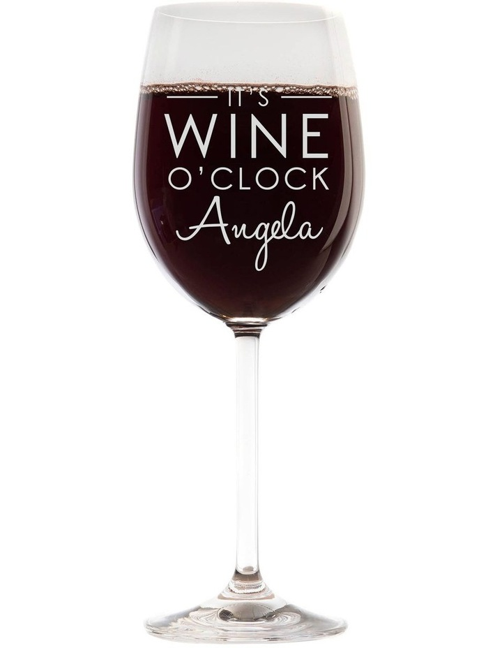 Engraved 360mL Wine Glass - It's Wine o'clock image 1