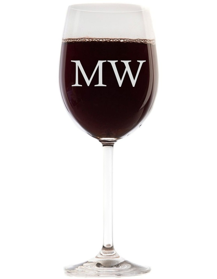 Engraved 360mL Wine Glasses Set of 6 - Initials image 1