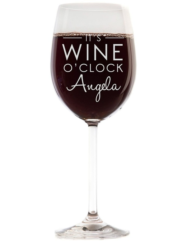 Engraved 360mL Wine Glasses Set of 6 - It's wine o'clock image 1
