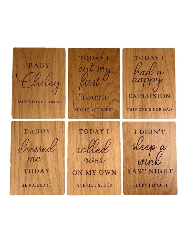 Bamboo Milestone Baby Cards - 6 piece set image 1