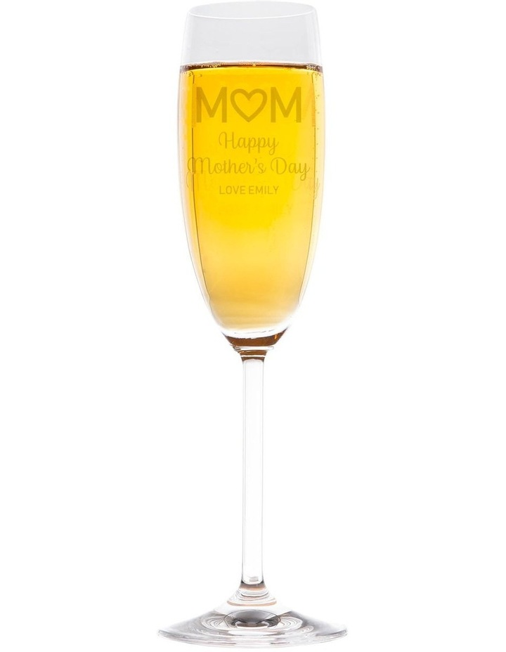Engraved Champagne Glass - Happy Mother's Day image 1