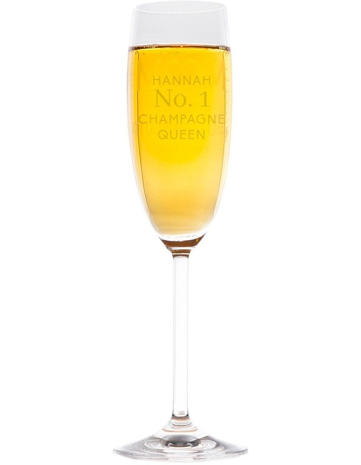 Engraved Champagne Glass - No. 1 Champagne Queen image 1