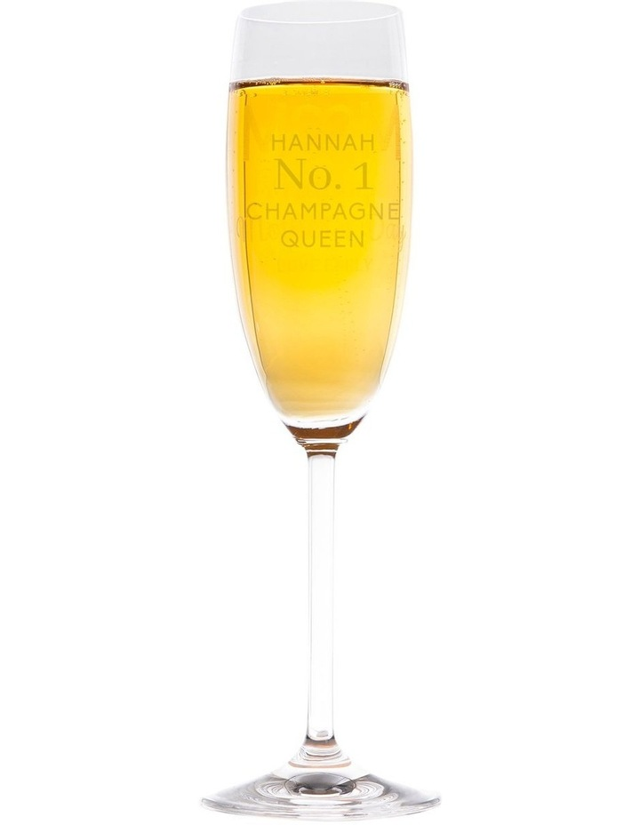 Engraved Champagne Glasses x 6 - No. 1 Champagne Queen image 1