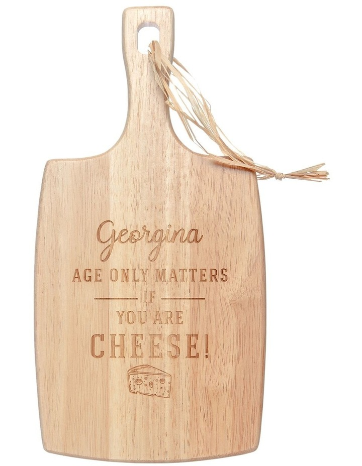 Engraved Cheese Board - Age only matters if you are cheese! image 1
