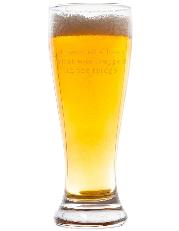 425mL Beer Glass -  I rescued a beer from the fridge image 1