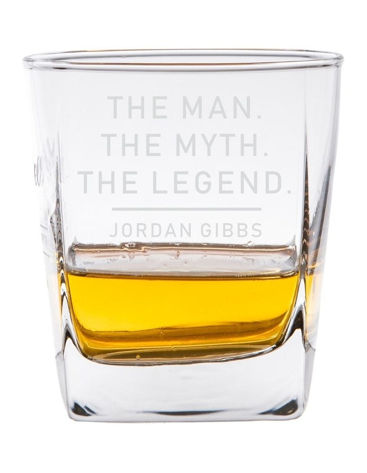 Engraved Scotch Glass - The Man, The Myth, The Legend image 1