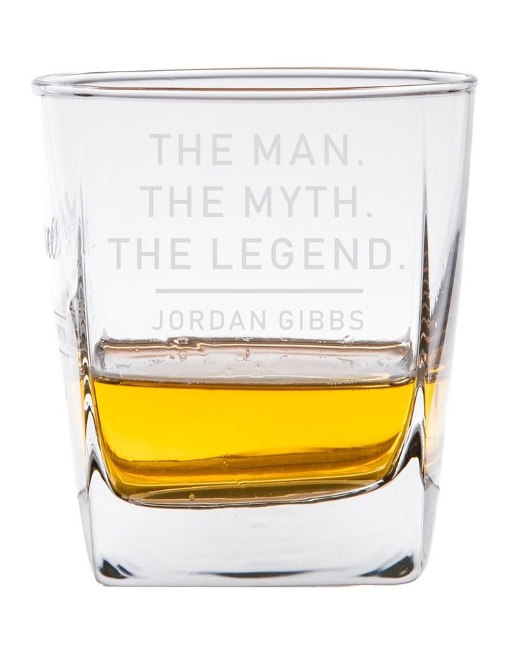 Engraved Scotch Glasses Set of 4 - The Man, The Myth, The Legend image 1