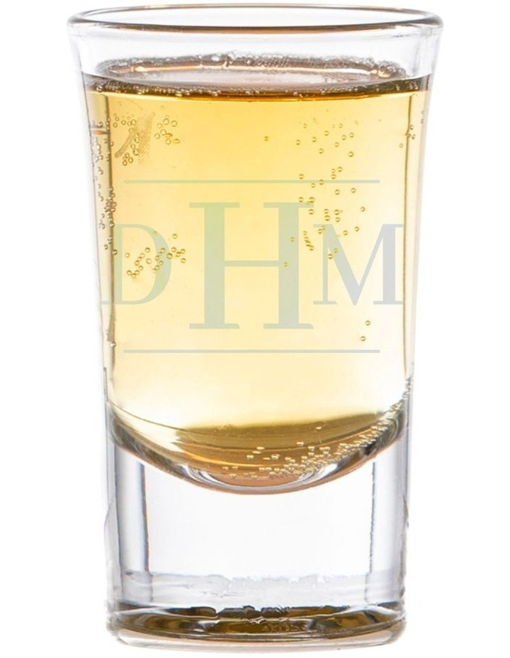 Engraved Shot Glasses Set of 6 - Initials image 1