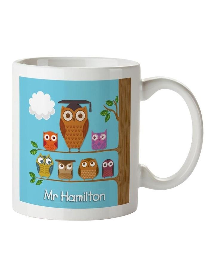 Teacher's Owl - Blue Ceramic Mug image 1