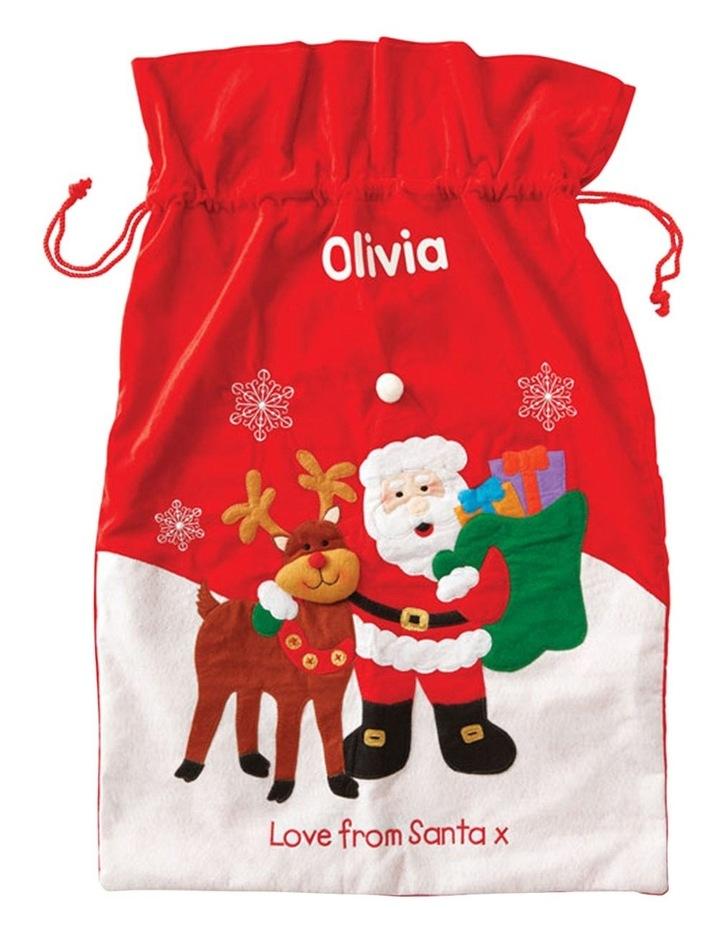 Personalised Santa And Reindeer Sack image 1