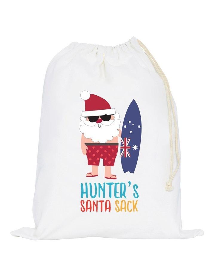 Aussie Christmas Santa Canvas Storage Sack Large image 1