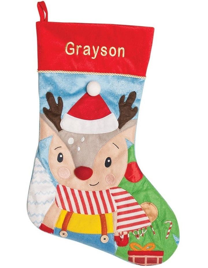 Personalised Baby Reindeer Stocking image 1