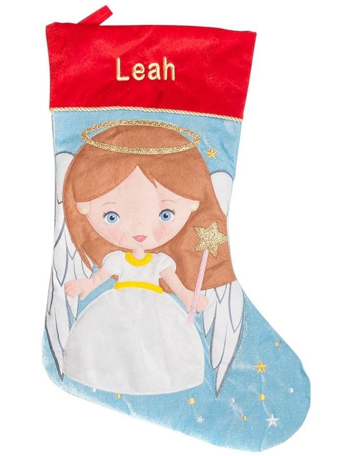 Personalised Angel Santa Stocking image 1