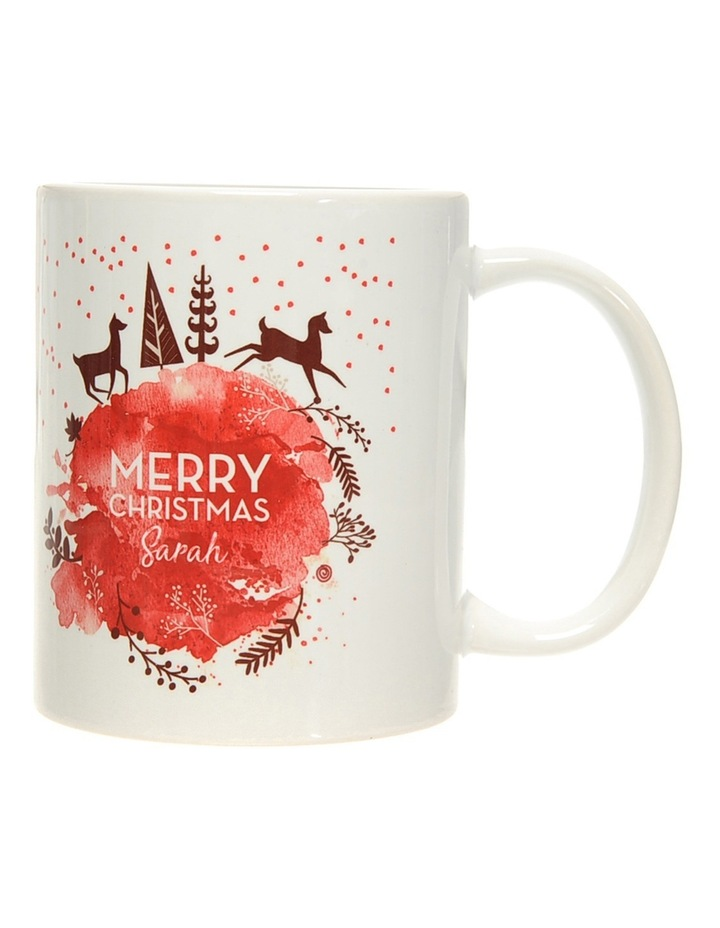 Personalised Gold and Red Christmas Ceramic Mug image 2