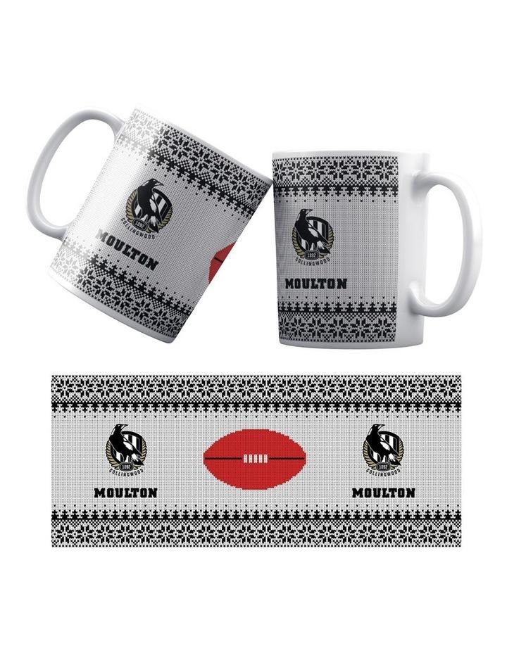 Personalised AFL Collingwood Football Club Ceramic Mug image 1