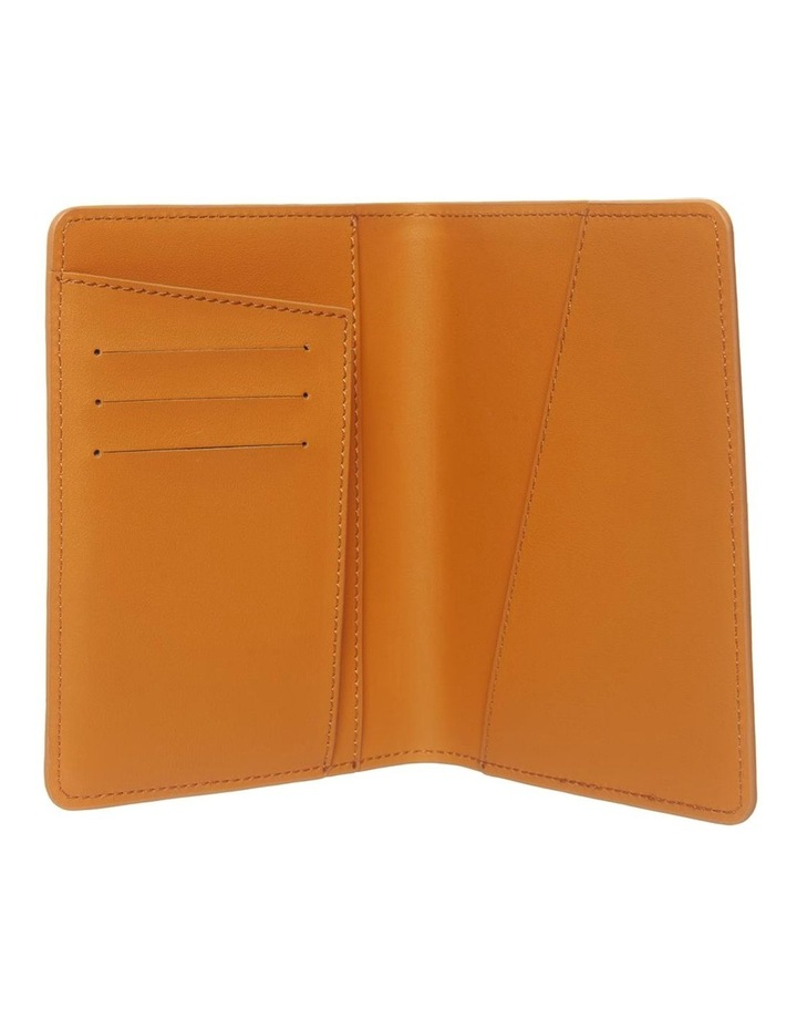 Personalised Recycled Leather Tan Passport Holder image 2