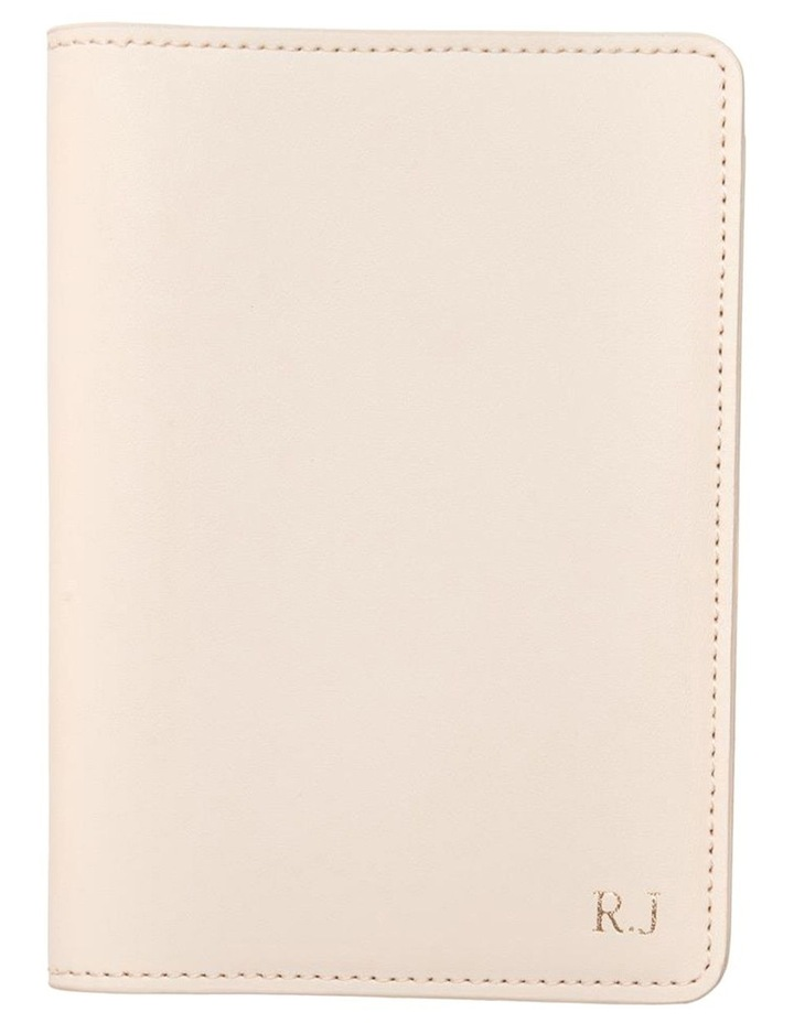 Personalised  Recycled Leather Nude Passport Holder image 1