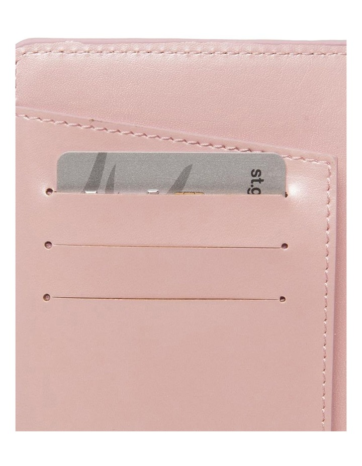 Personalised Recycled Leather Pink Passport Holder image 3