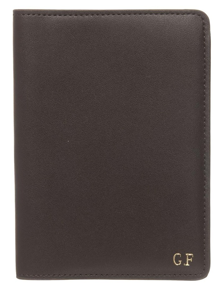 Personalised Recycled Leather Chestnut Passport Holder image 1