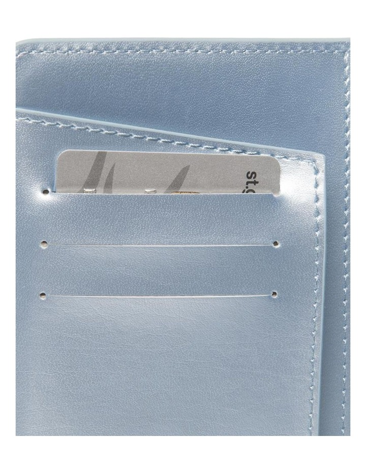 Personalised Recycled Leather Metallic Blue Passport Holde image 3