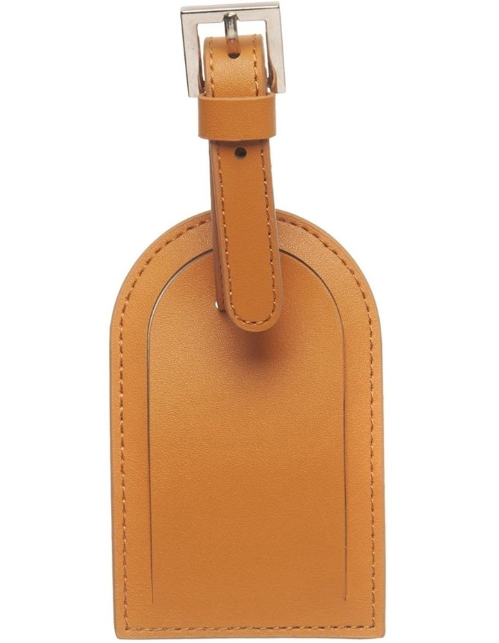 Personalised Recycled Leather Tan Luggage Tag image 3