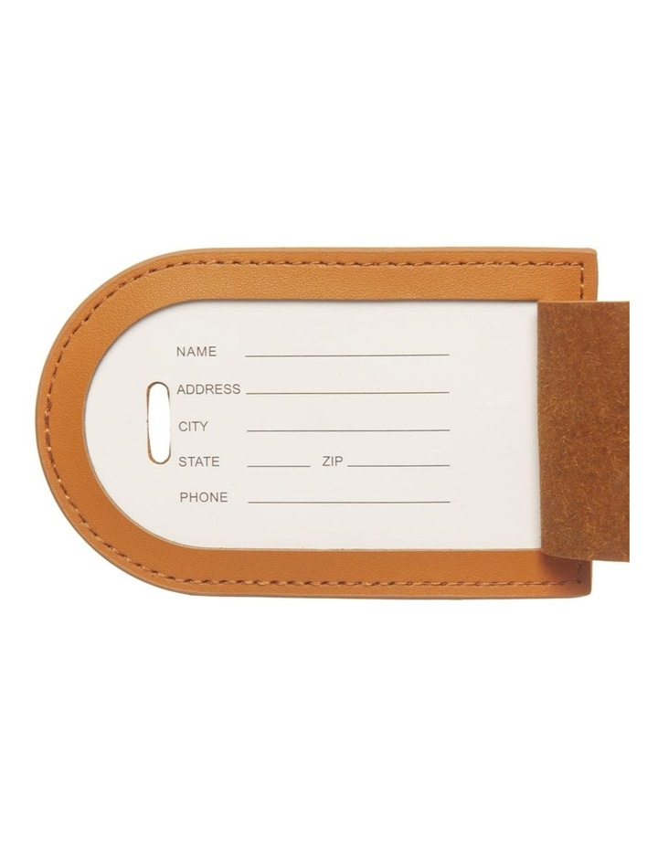 Personalised Recycled Leather Tan Luggage Tag image 4