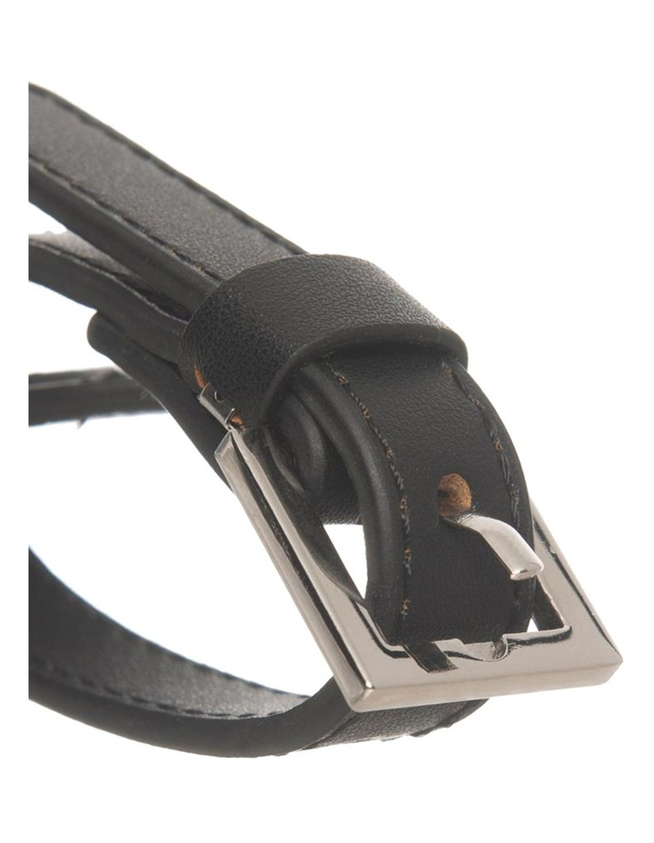 Personalised  Recycled Leather Black Luggage Tag image 2