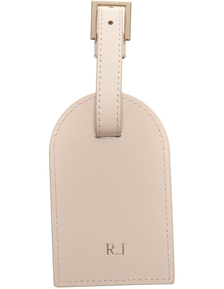 Personalised Recycled Leather Nude Luggage Tag image 1
