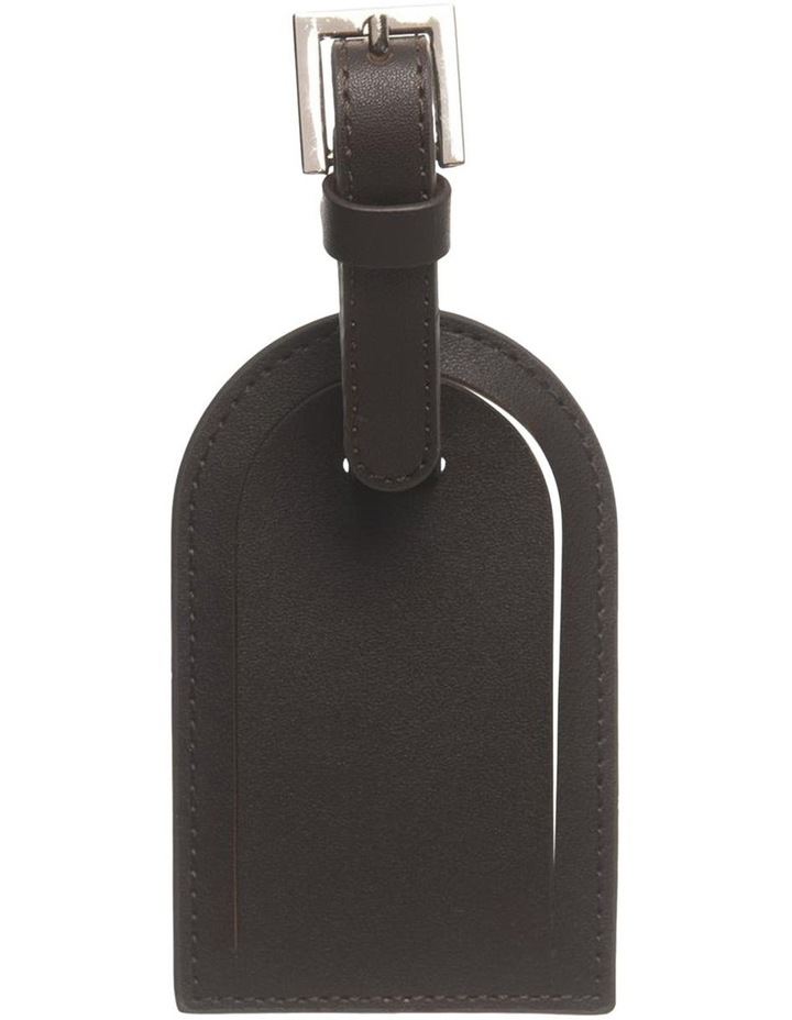 Personalised Recycled Leather Chestnut Luggage Tag image 3