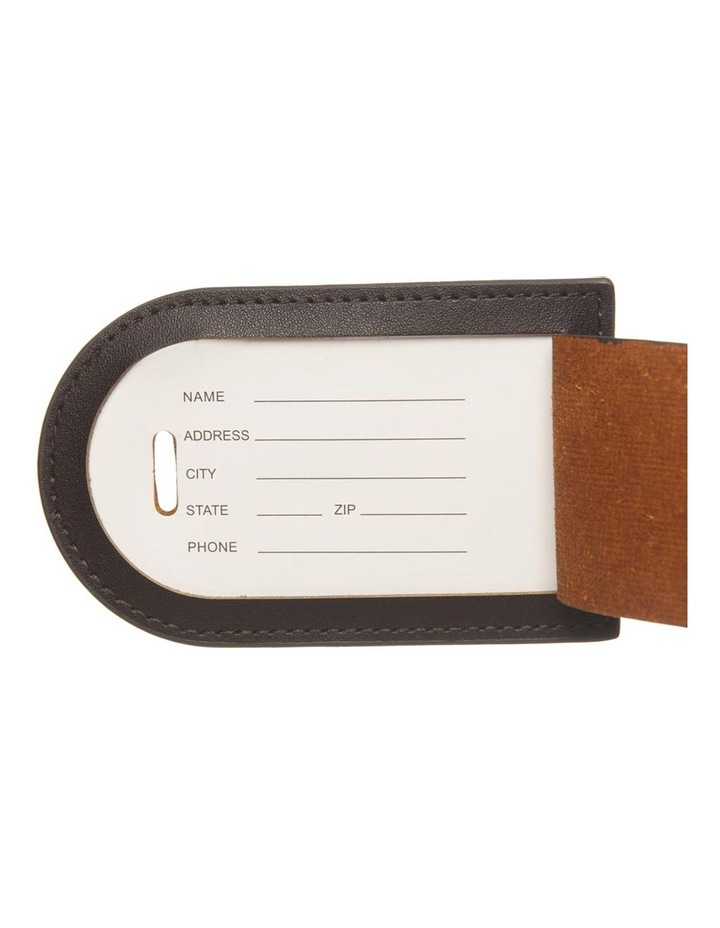Personalised Recycled Leather Chestnut Luggage Tag image 4