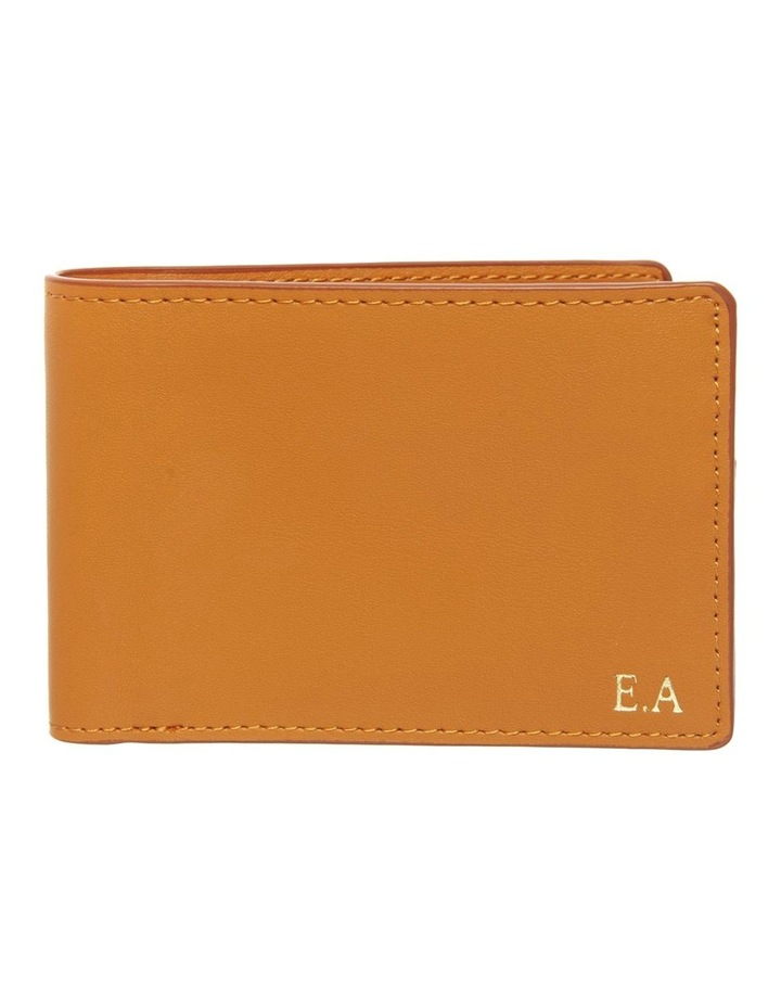 Personalised Tan Recycled Leather Wallet image 1
