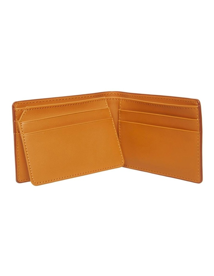 Personalised Tan Recycled Leather Wallet image 2