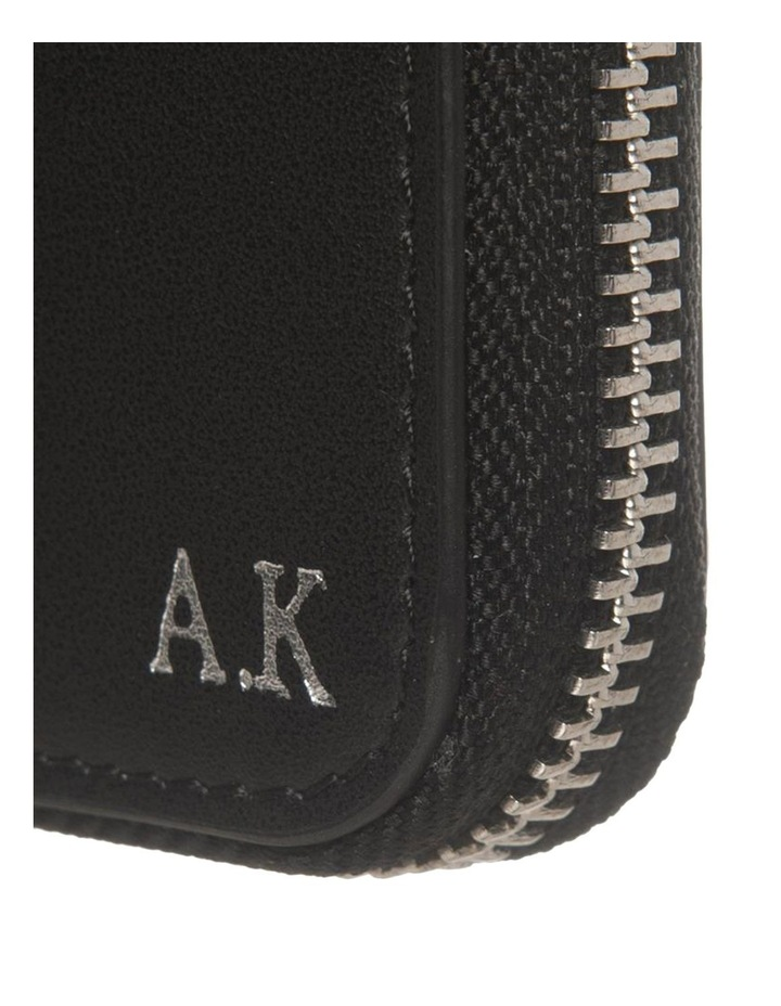 Personalised Black Recycled Leather Travel Wallet image 2