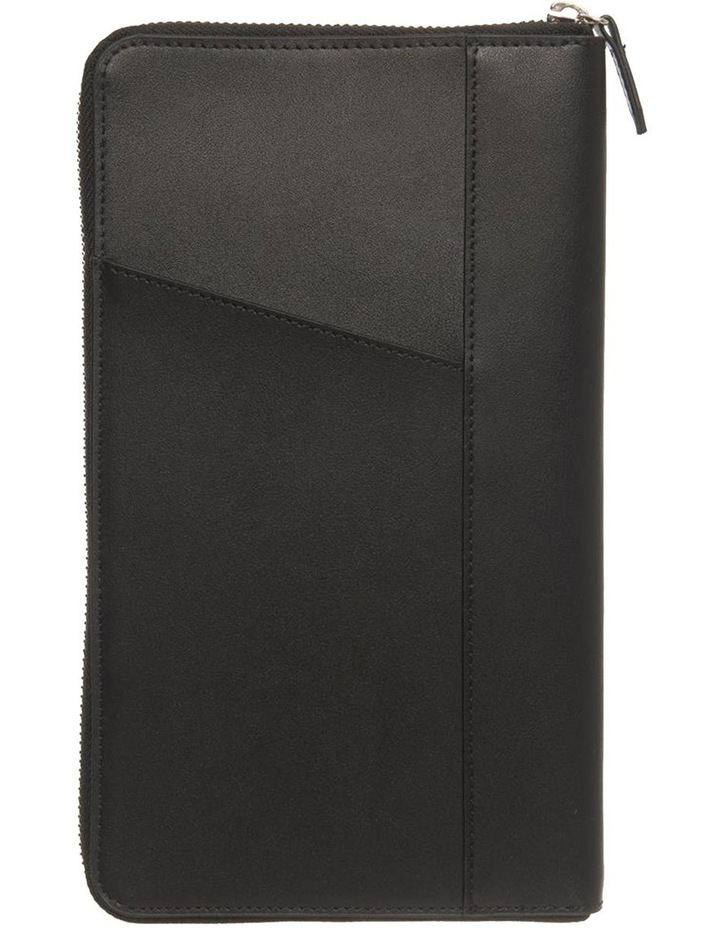 Personalised Black Recycled Leather Travel Wallet image 4