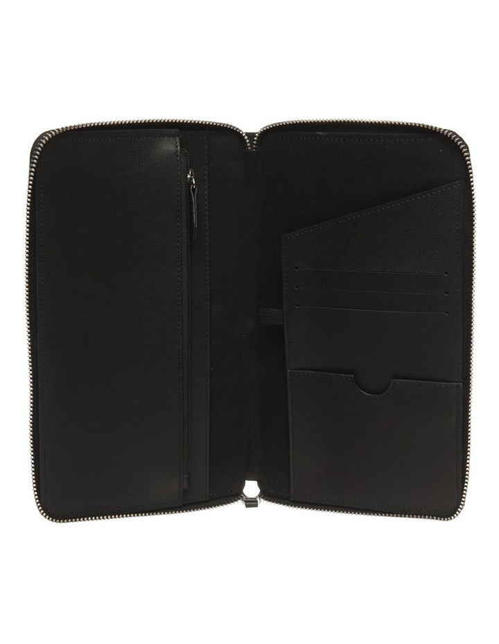 Personalised Black Recycled Leather Travel Wallet image 5