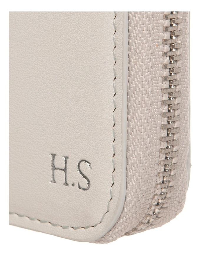 Personalised Grey Recycled Leather Travel Wallet image 2