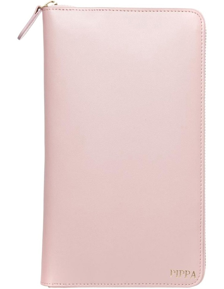 bb7ef27c911 Identity Direct Personalised Pink Recycled Leather Travel Wallet