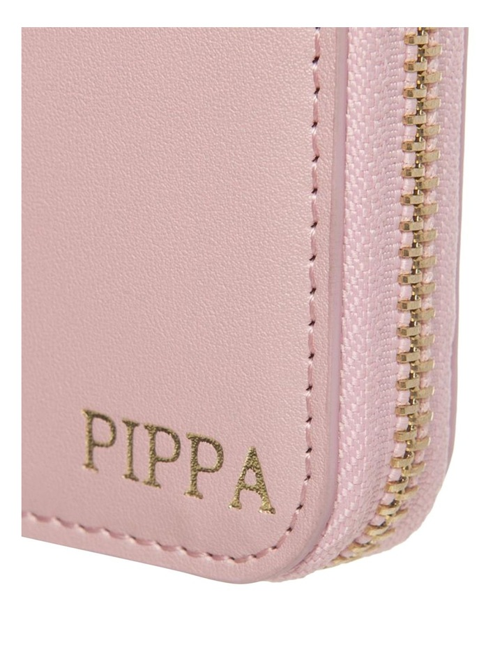 Personalised  Pink Recycled Leather Travel Wallet image 2