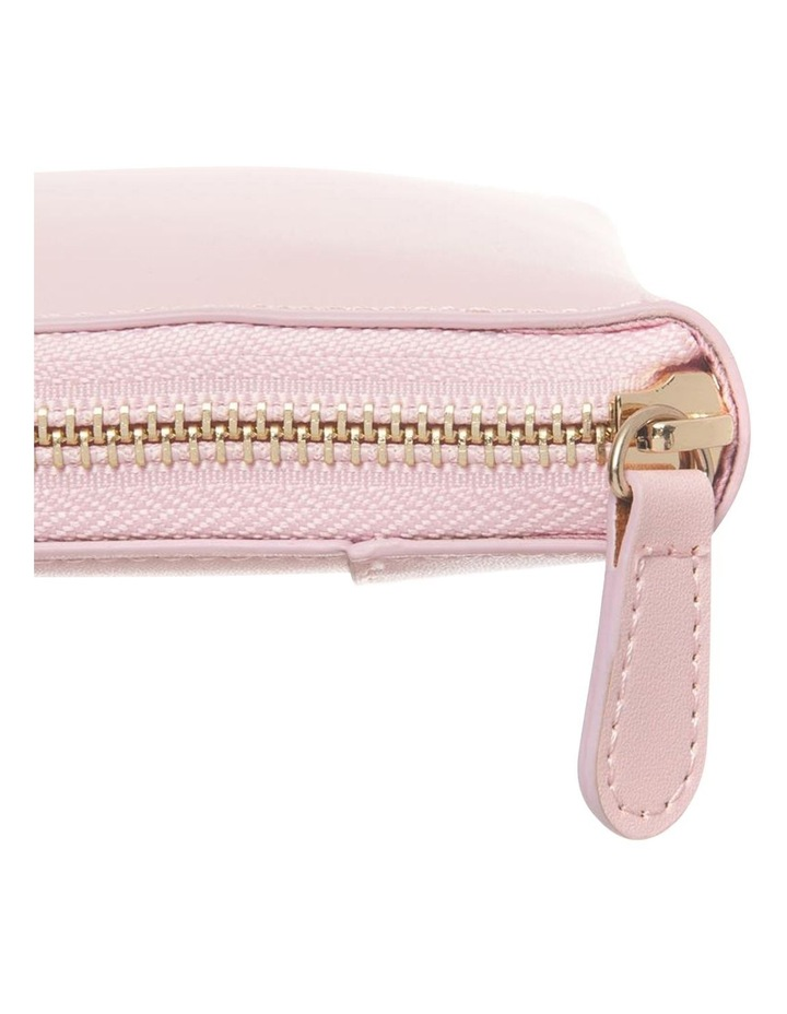 Personalised  Pink Recycled Leather Travel Wallet image 3