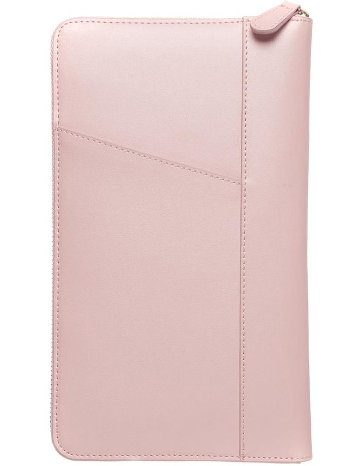 Personalised  Pink Recycled Leather Travel Wallet image 4