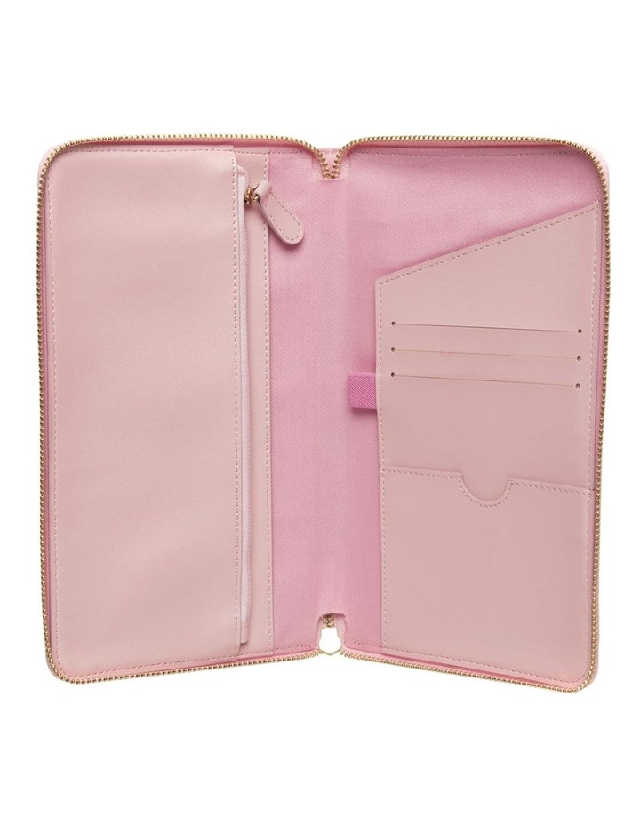 Personalised  Pink Recycled Leather Travel Wallet image 5