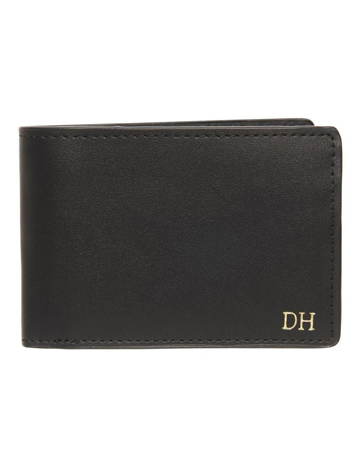 Personalised Black Recycled Leather Wallet image 1