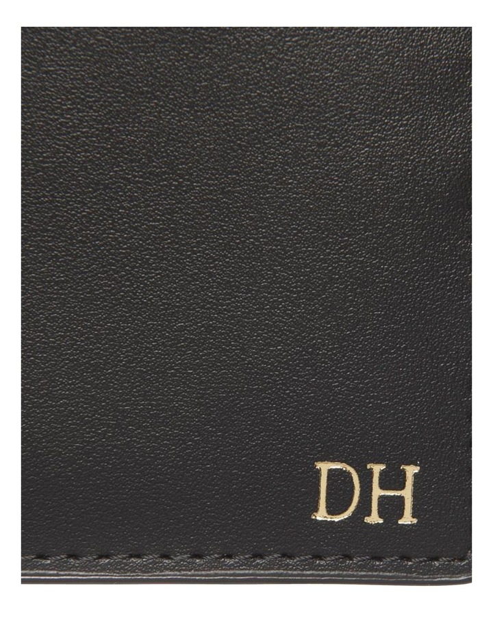 Personalised Black Recycled Leather Wallet image 2