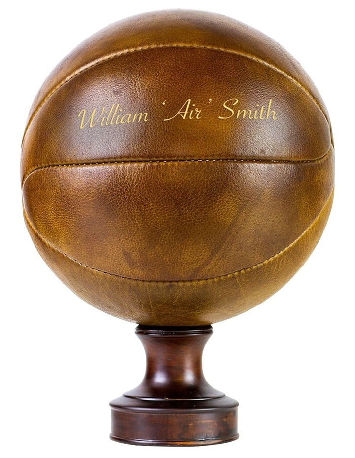 Personalised Vintage Leather Basketball image 1