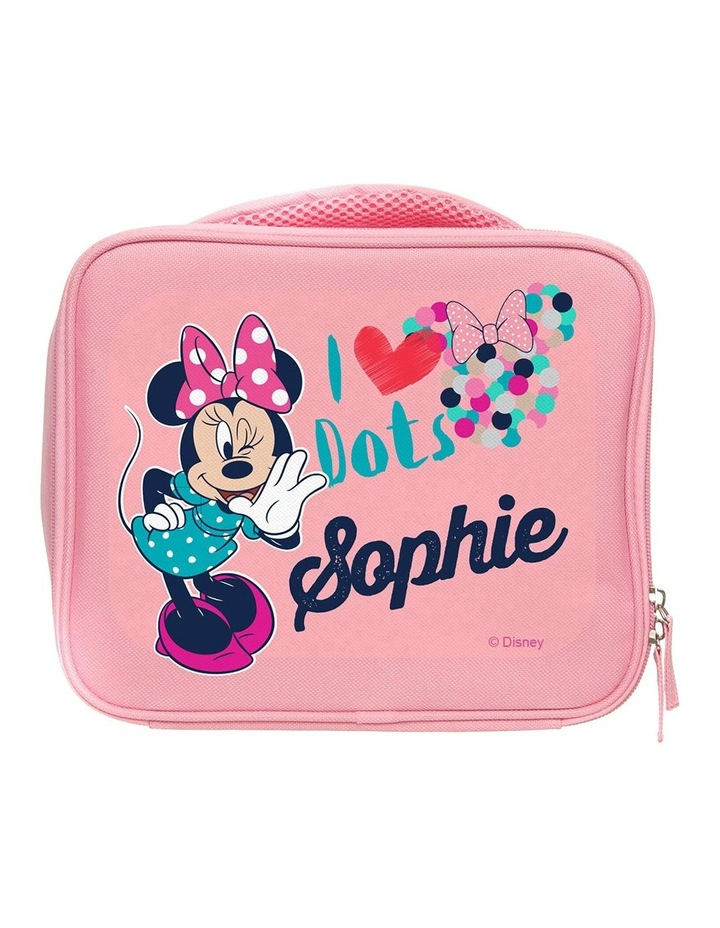 Personalised Minnie Mouse I Love Dots Lunch Bag image 1