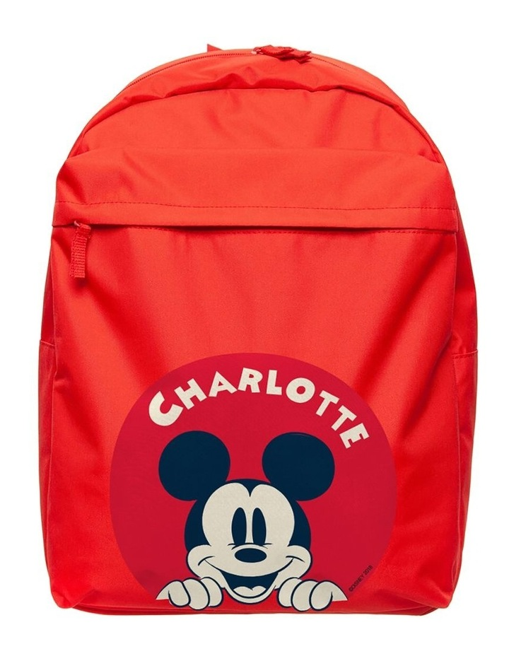 Personalised Mickey Mouse Character Large Backpack image 1