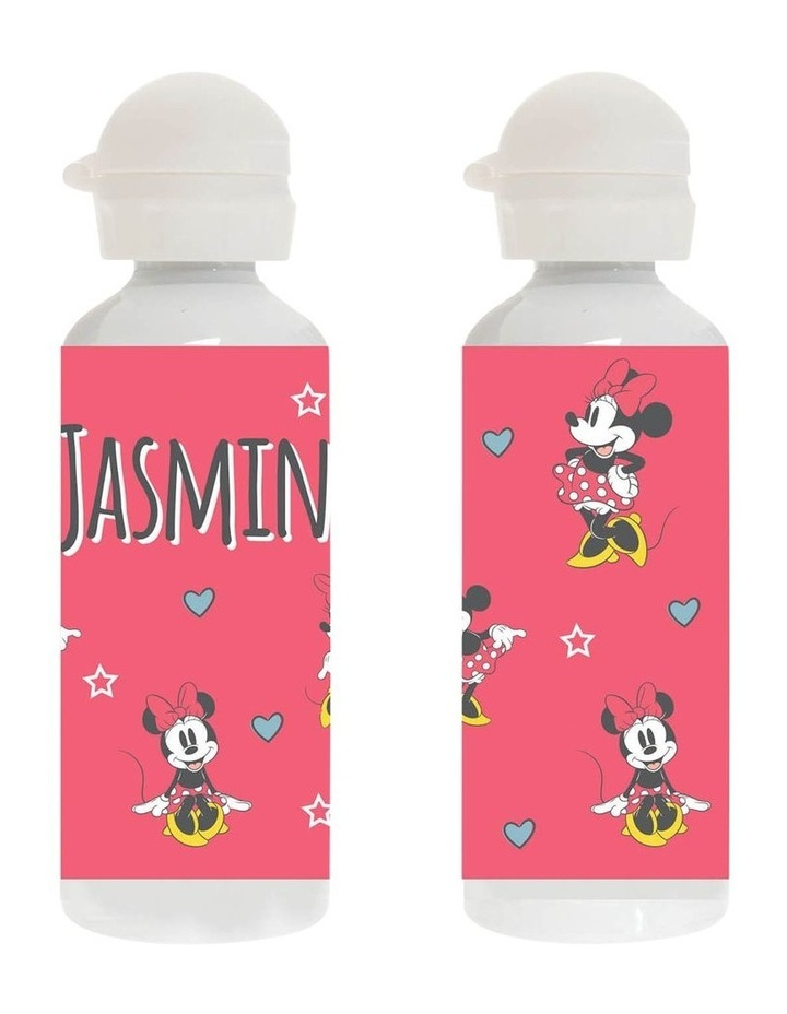 Personalised Minnie Mouse Stars Pink Stainless Steel Drink Bottle image 1