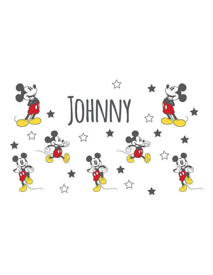 Personalised Mickey Mouse Stars Stainless Steel Drink Bottle image 2